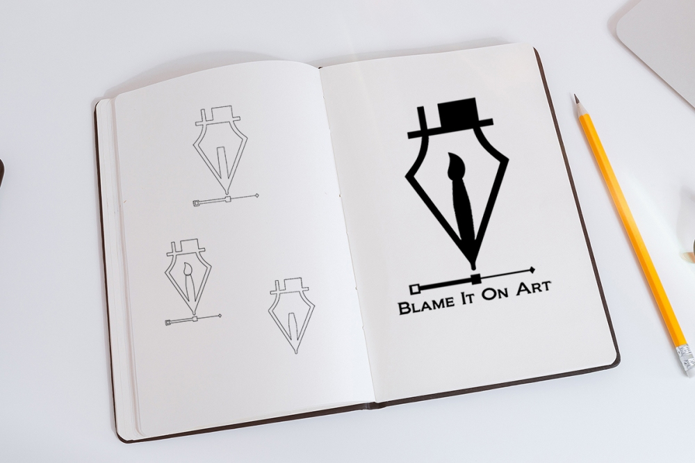 logo blame it on art 1