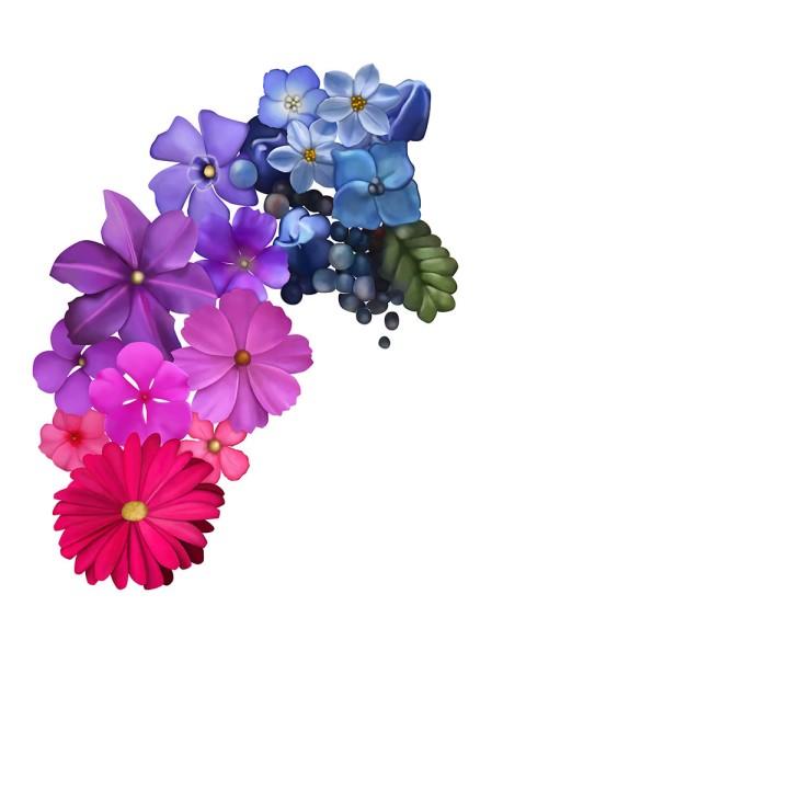 Flower mandala progress, blameitonart (2)